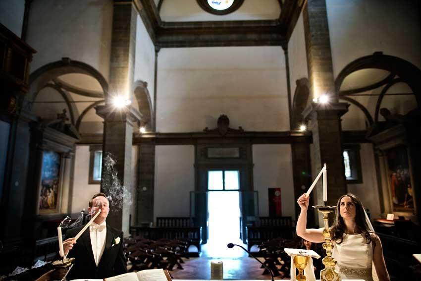 Catholic wedding in Cortona Tuscany