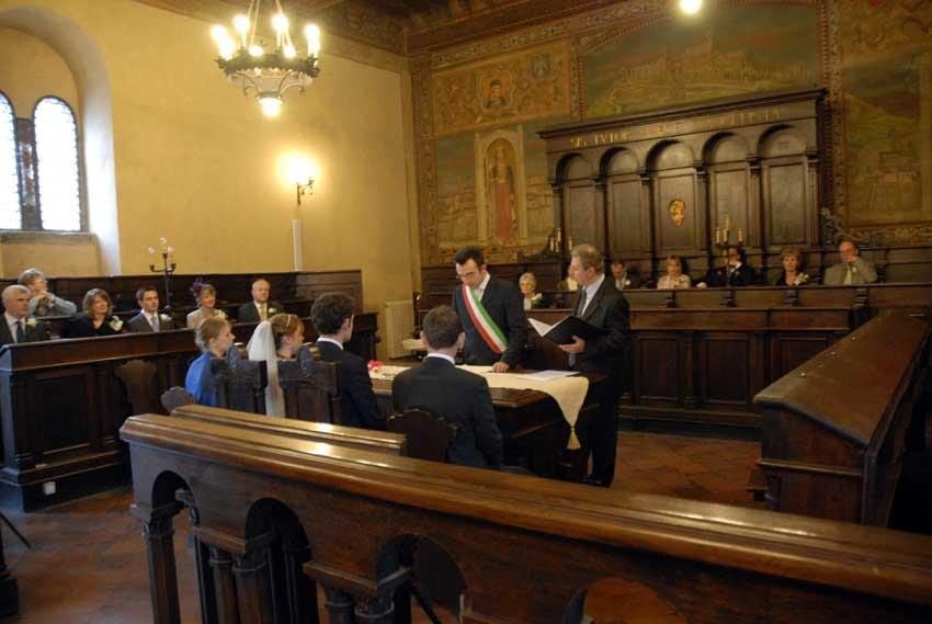 Civil ceremony in Cortona Tuscany