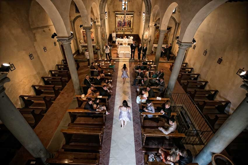 Church for catholic weddings in Florence