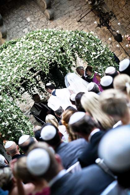 Jewish ceremony in a castle near Florence