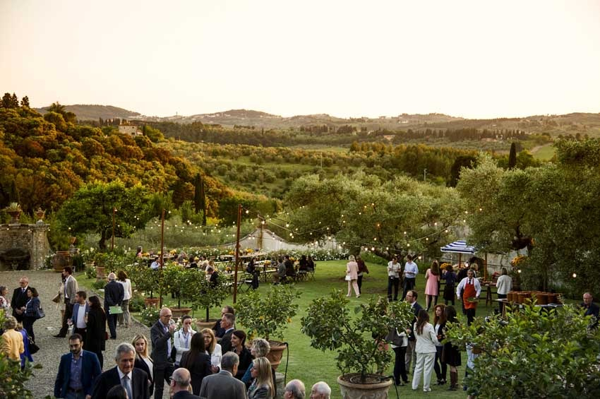 Florence wedding at Villa di Lilliano
