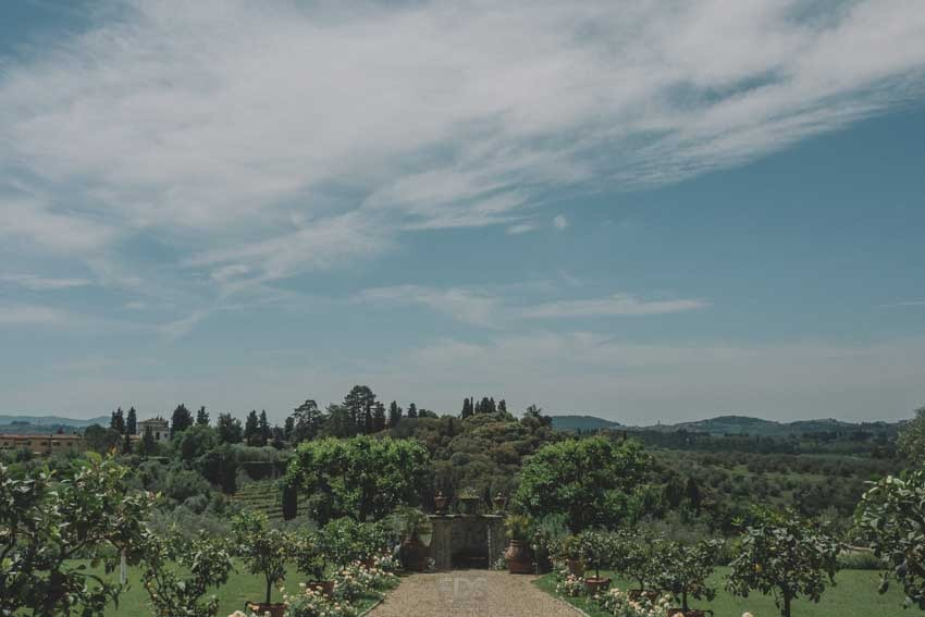 Gardens of Villa di Lilliano near Florence