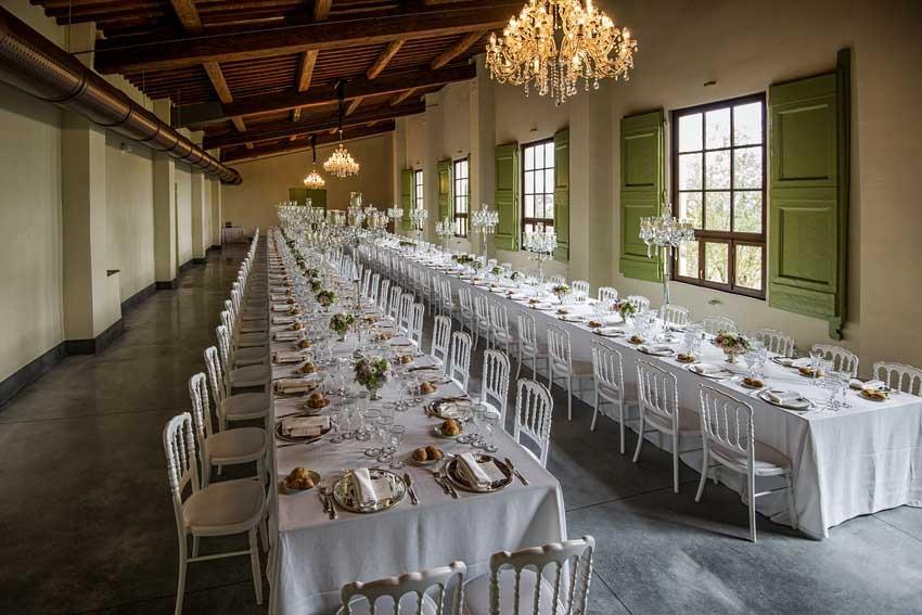 Banquet hall of Villa Medicea di Lilliano Florence