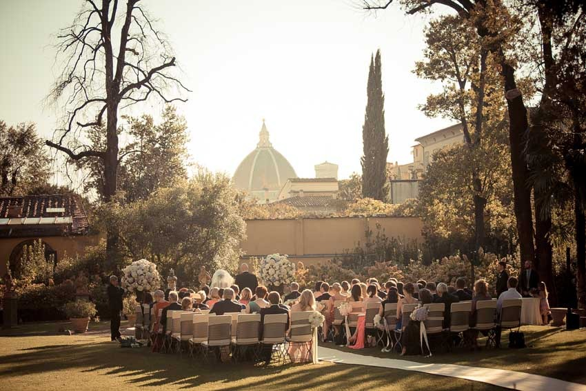 Wedding ceremony at Four Seasons Hotel Florence