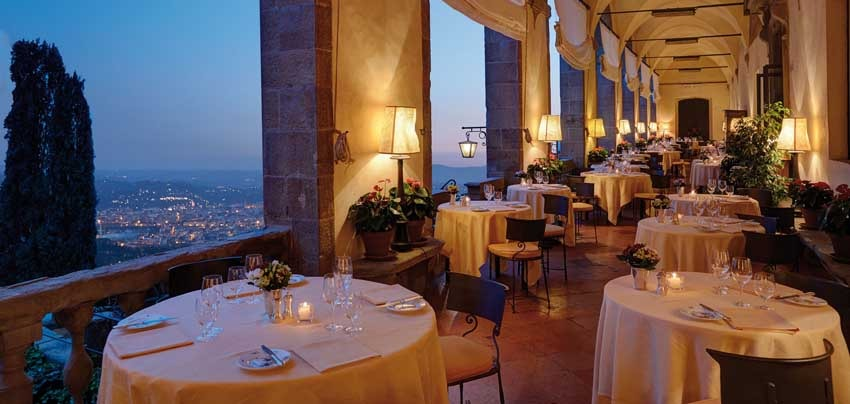 Terrace of Villa San Michele, venue for destination weddings in Florence