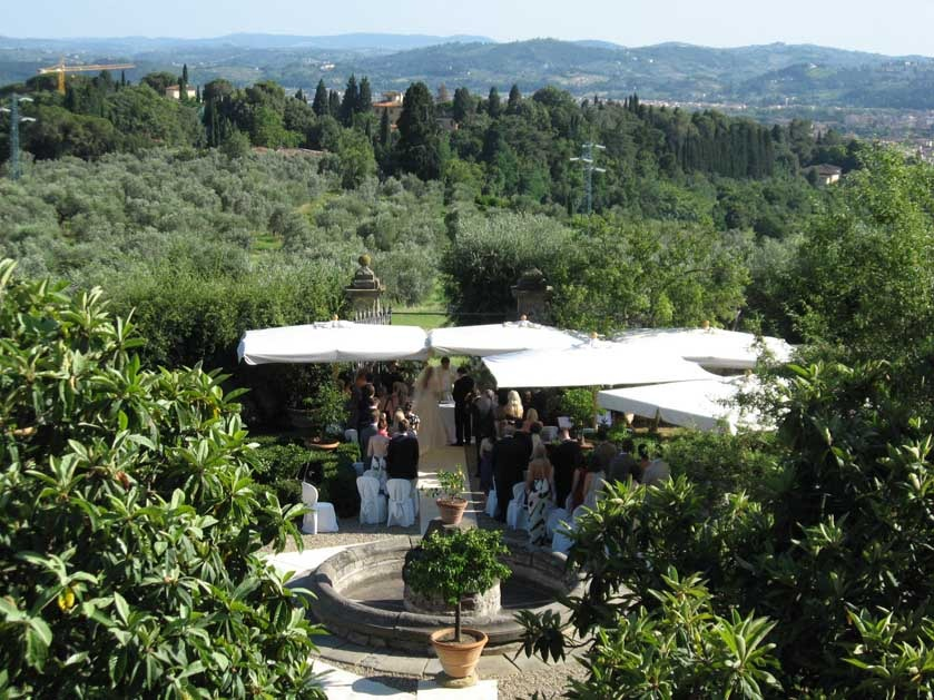 Villa di Maiano for wedding ceremonies near Florence