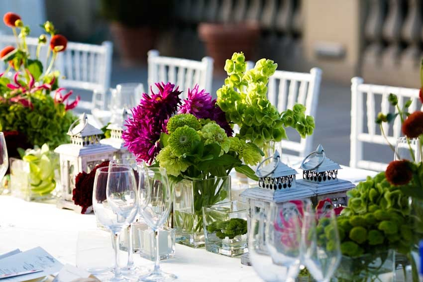Wedding reception in a Florence Villa