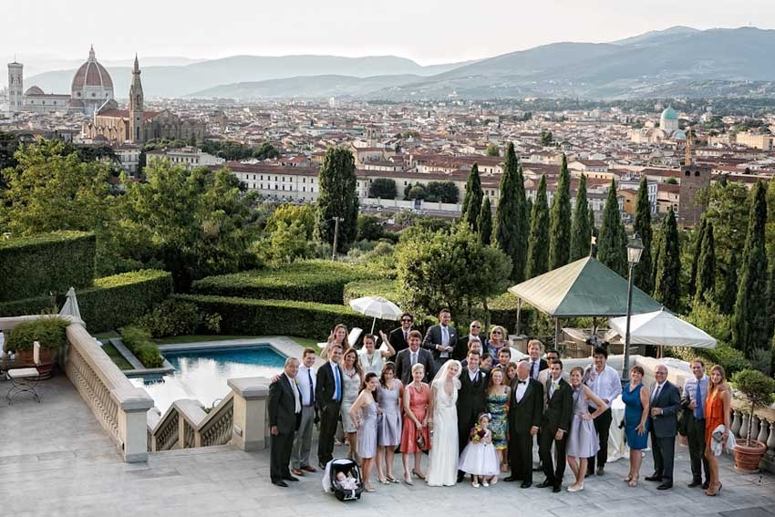 Wedding in a Florence Villa