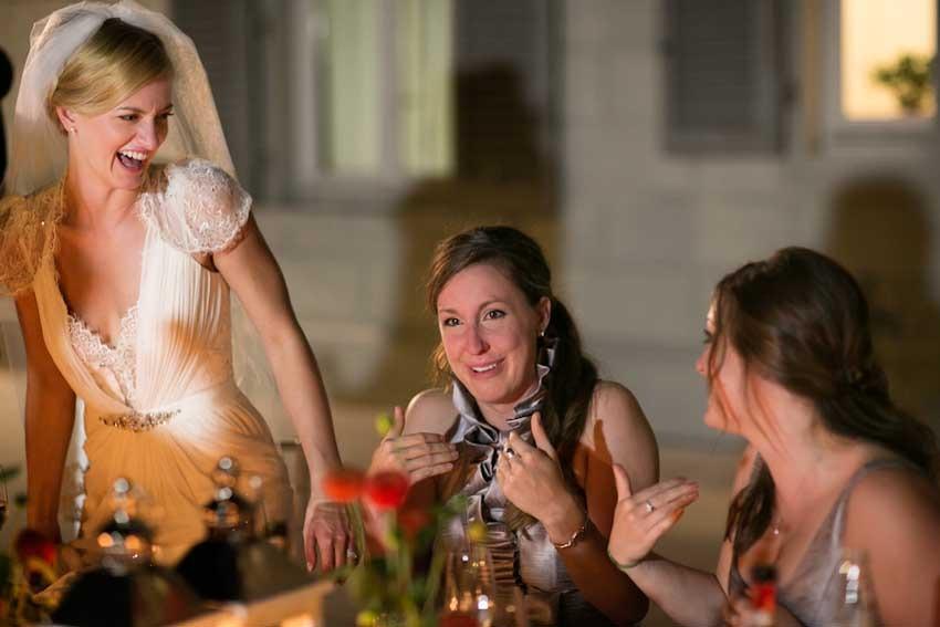 Florence wedding reception in an elegant villa on the hills