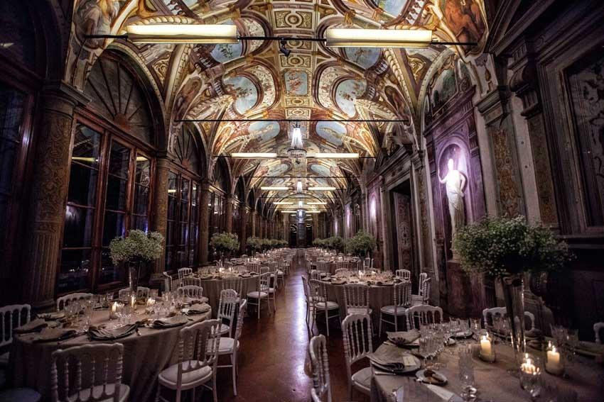 Wedding dinner at Villa Corsini near Florence