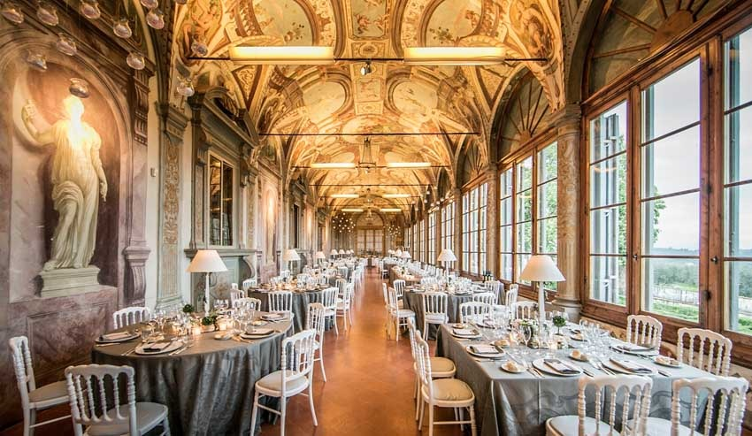 Wedding reception at Villa Corsini near Florence