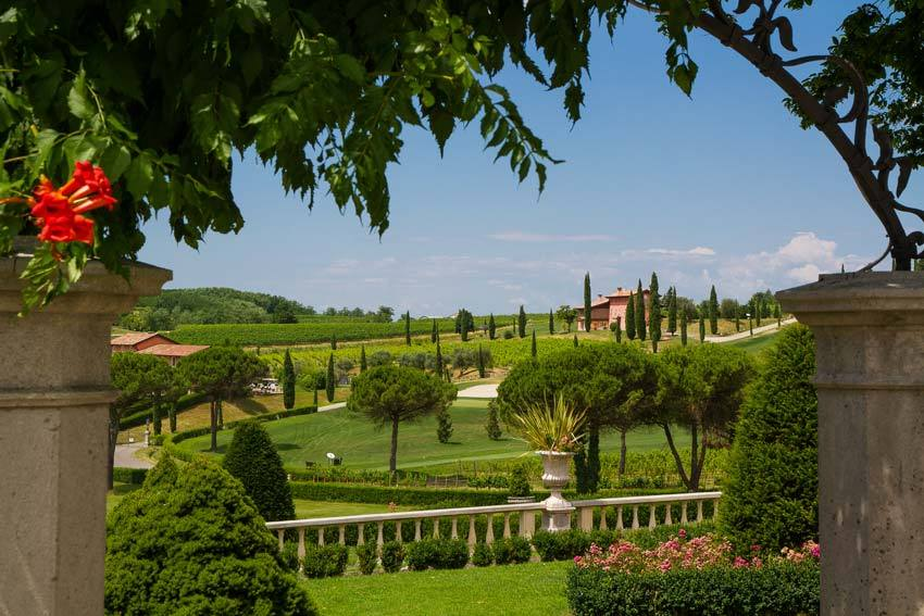 Gardens of Castello di Spessa in the Friuli region of Italy
