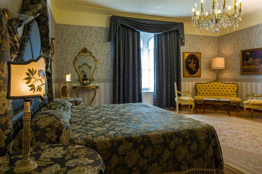 Deluxe room at Castello di Spessa in the Friuli region of Italy