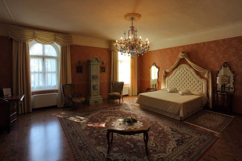 Luxury room at Castello di Spessa in the Friuli region of Italy