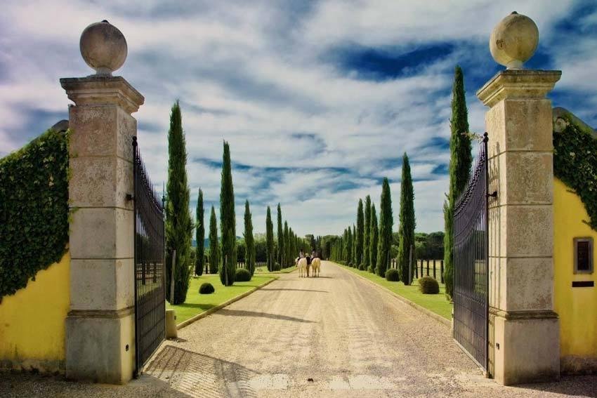Estate of Il Borro Relais for weddings in Tuscany