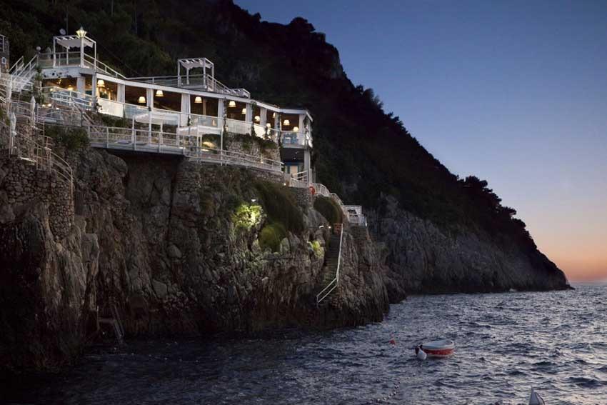 Il Riccio restaurant for Capri wedding receptions