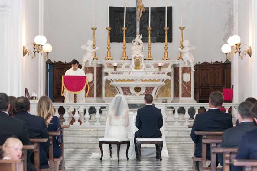 Catholic ceremony in Portofino on the Riviera