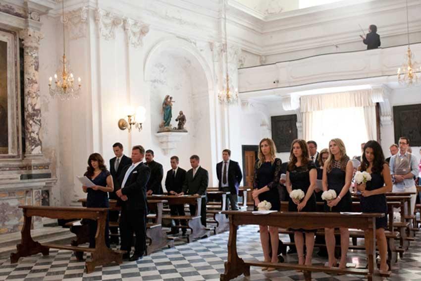 Catholic wedding in Portofino on the Italian Riviera