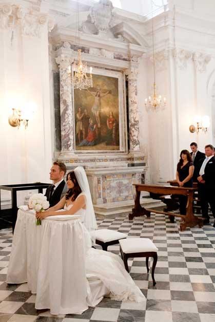 Catholic ceremony in Portofino on the Italian Riviera