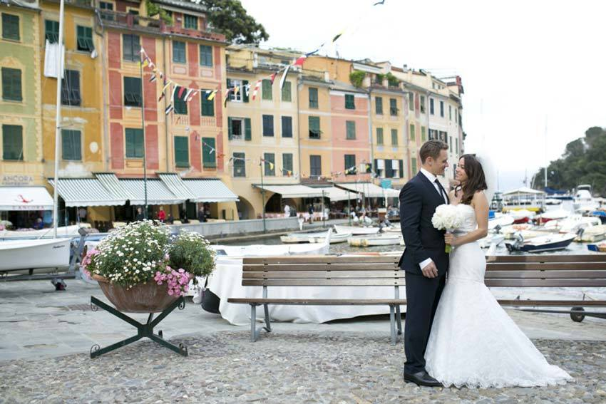 Destination wedding in Portofino on the Italian Riviera