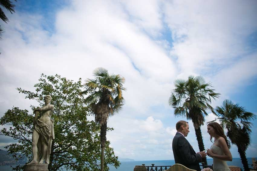 Destination wedding on the Italian Riviera