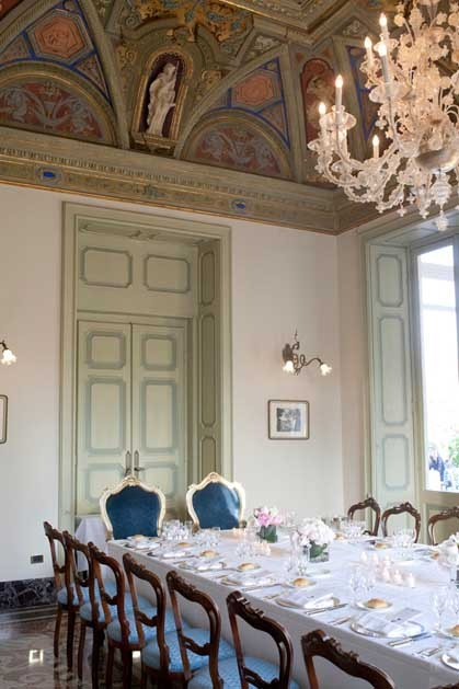 Wedding reception at Imperiale Hotel on the Italian Riviera