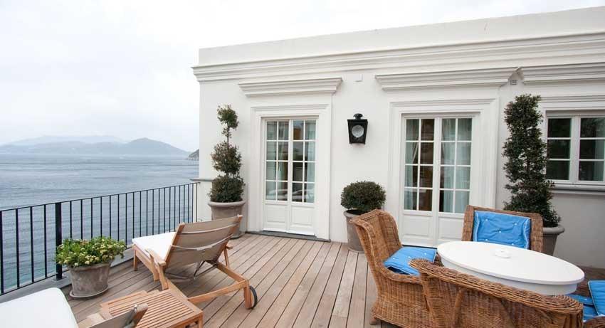 Terrace of JK Place hotel for weddings in Capri