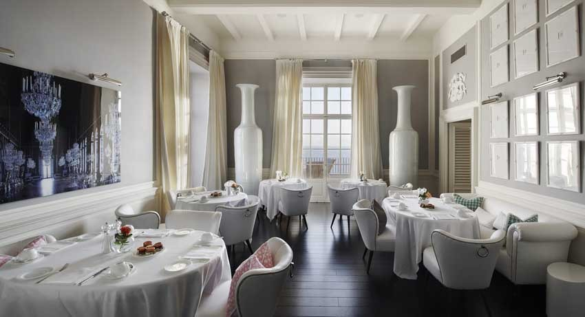 Restaurant of JK Place luxury hotel for weddings in Capri