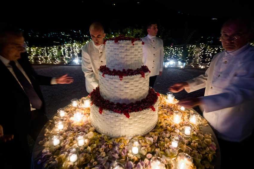 Wedding cake for Lake Como wedding at Villa Pizzo