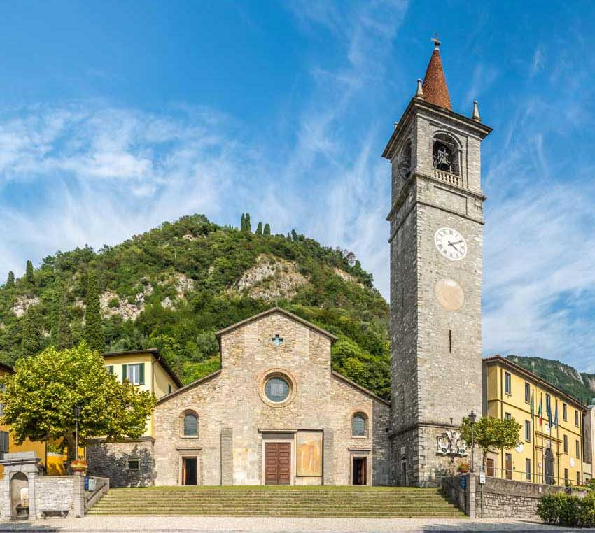 Catholic church in Varenna on Lake Como