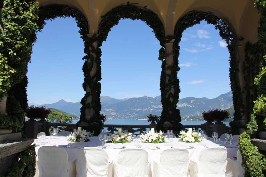Wedding reception at Villa del Balbianello on Lake Como