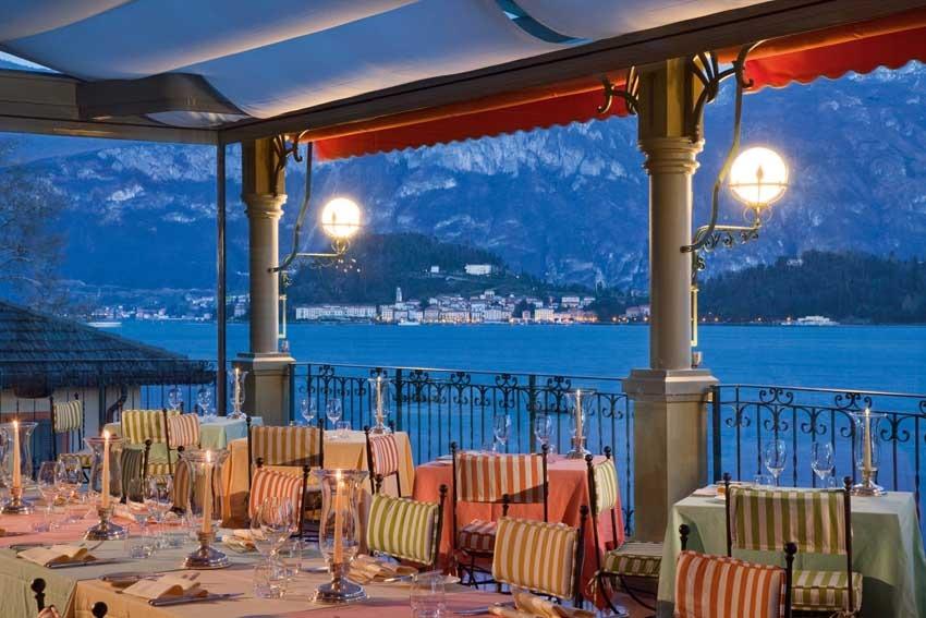 Terrace restaurant of Grand Hotel Tremezzo for weddings on Lake Como