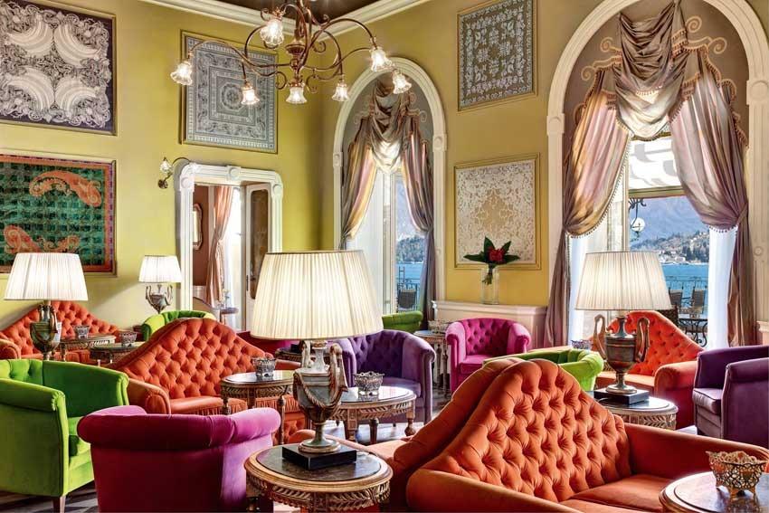 Interior of Grand Hotel Tremezzo for weddings on Lake Como