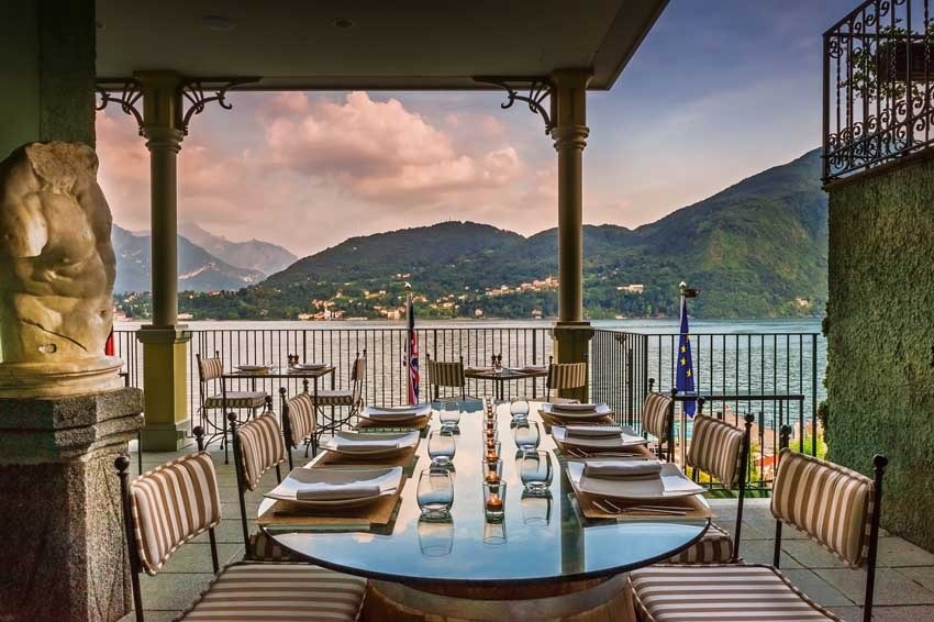 Terrace restaurant of Grand Hotel Tremezzo for weddings on Lake Como