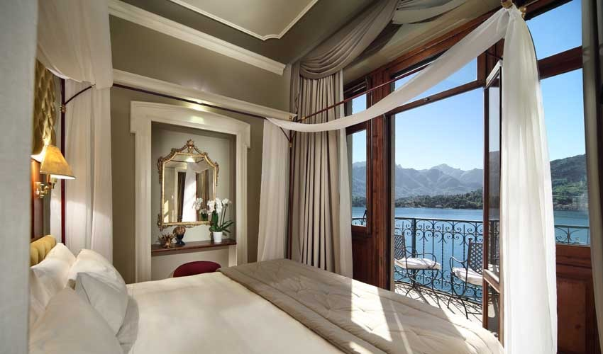Room of Grand Hotel Tremezzo for weddings on Lake Como