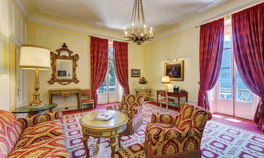 Room of Villa d'Este for Lake Como weddings