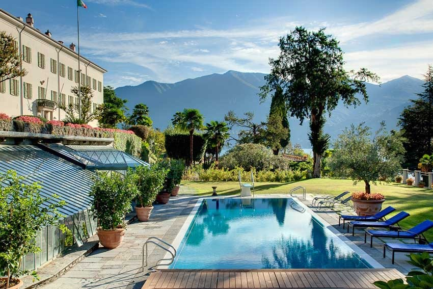 Gardens of Villa Passalacqua on Lake Como