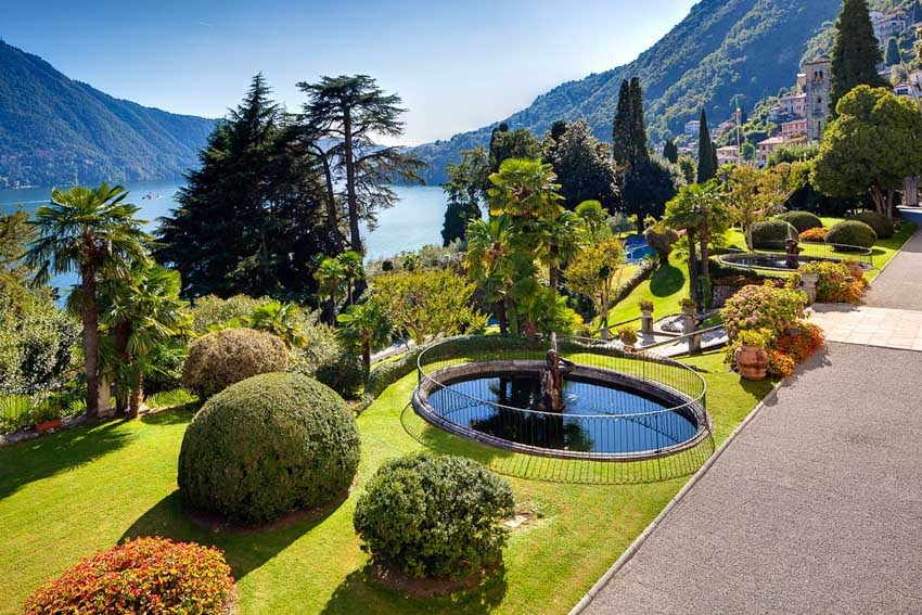 Gardens of Villa Passalacqua for destination weddings on Lake Como
