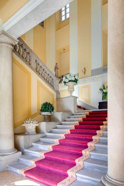 Interior of Villa Passalacqua for destination weddings on Lake Como