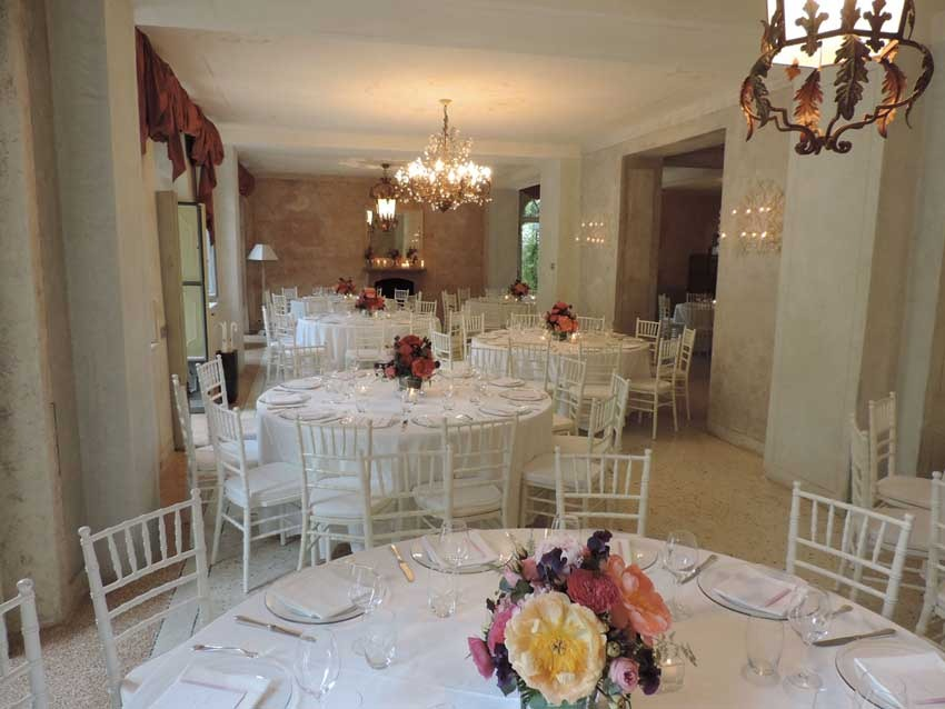 Wedding reception at Villa Regina Teodolinda on Lake Como