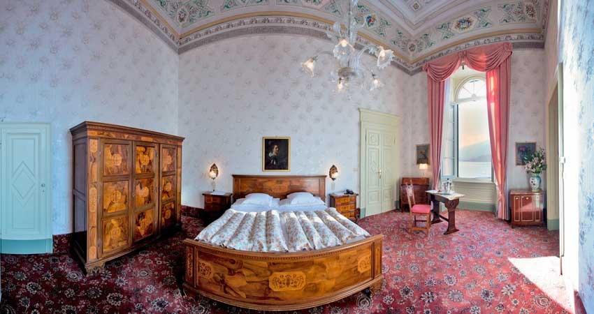 Rooms of Villa Serbelloni for luxury weddings on Lake Como