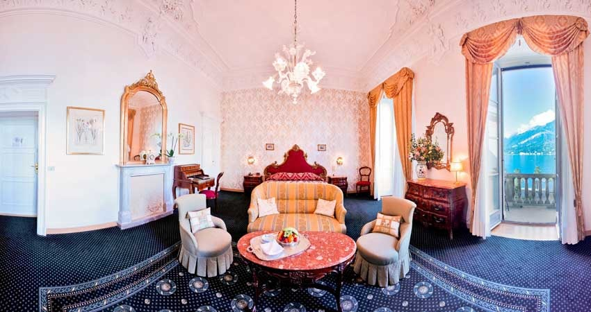 Room of Villa Serbelloni for luxury weddings on Lake Como