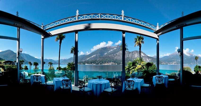 Terrace of Villa Serbelloni for luxury weddings on Lake Como