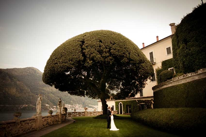 Gardens of Villa del Balbianello for Lake Como weddings