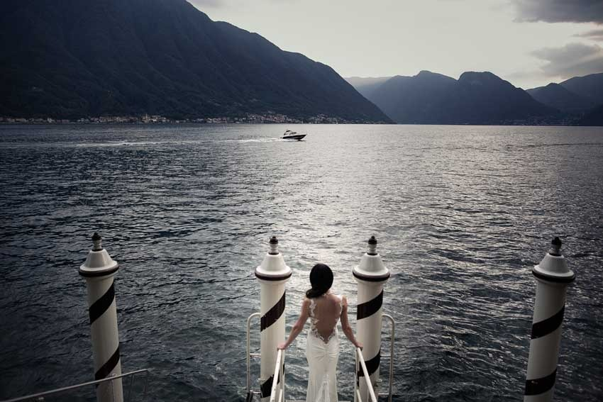 Arrival at Villa del Balbianello for Lake Como weddings