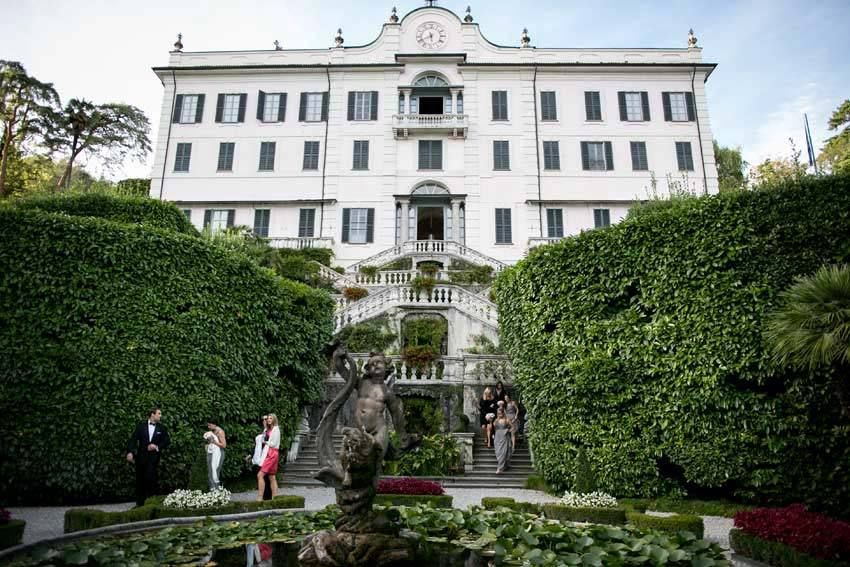 Gardens of Villa Carlotta for civil weddings on Lake Como