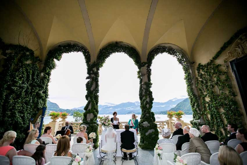Civil ceremony at Villa Balbianello on Lake Como