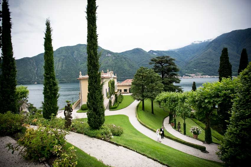 Gardens of Villa del Balbianello for civil weddings on Lake Como