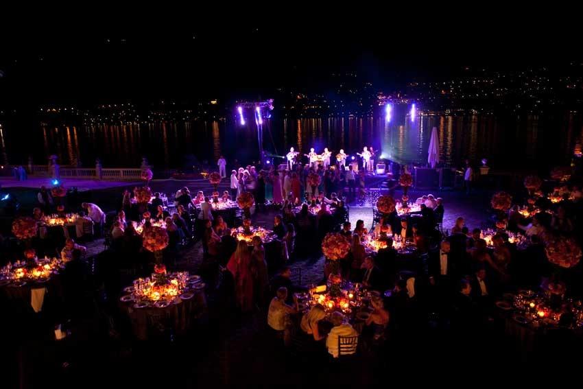 Wedding party at Casta Diva Resort on Lake Como