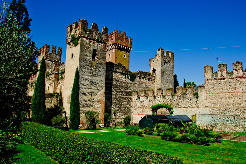 Castle of Torri del Benaco on Lake Garda